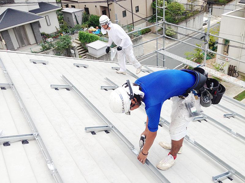 太陽光発電架台 浜松市 シャープ