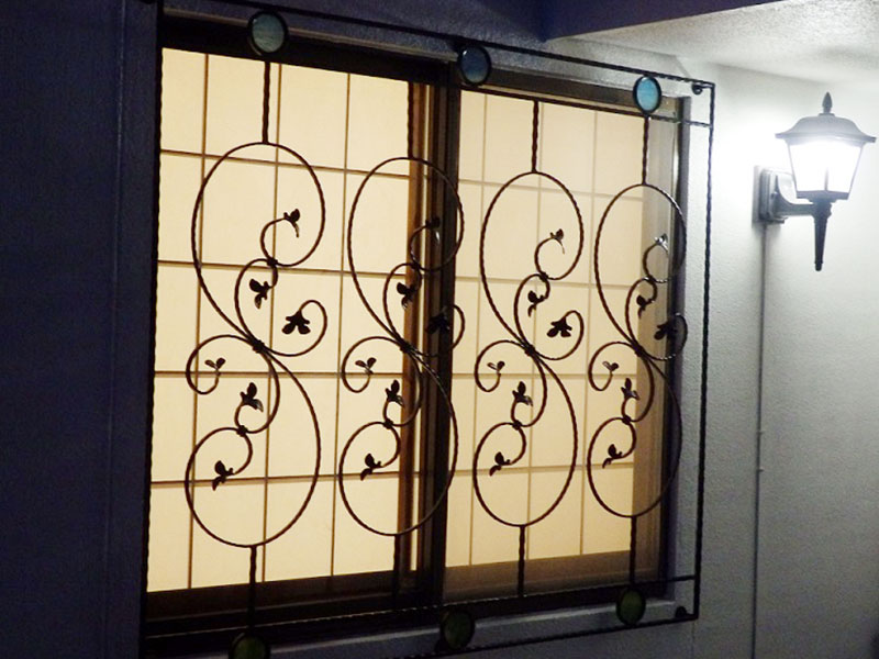 玄関飾り格子施工 菊川市